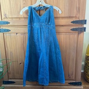 Denim Halter Dress
